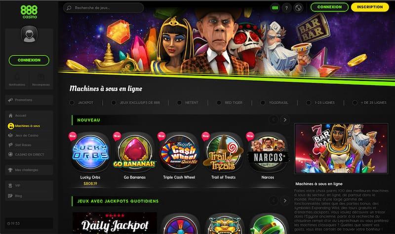 888 Casino Machines à sous