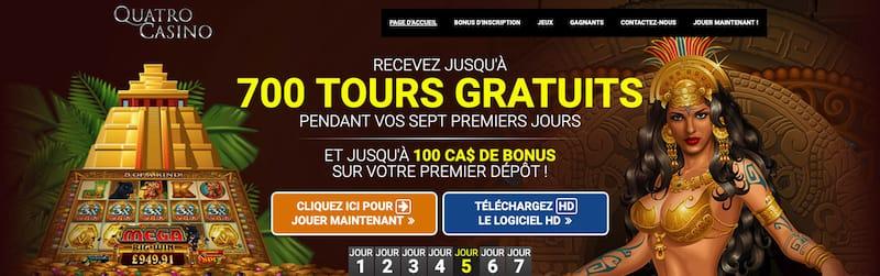 Quatro Casino 700 Tours Gratuits