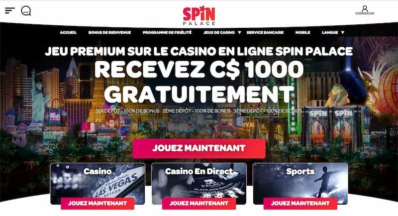Spin Palace Casino Revue en Francais