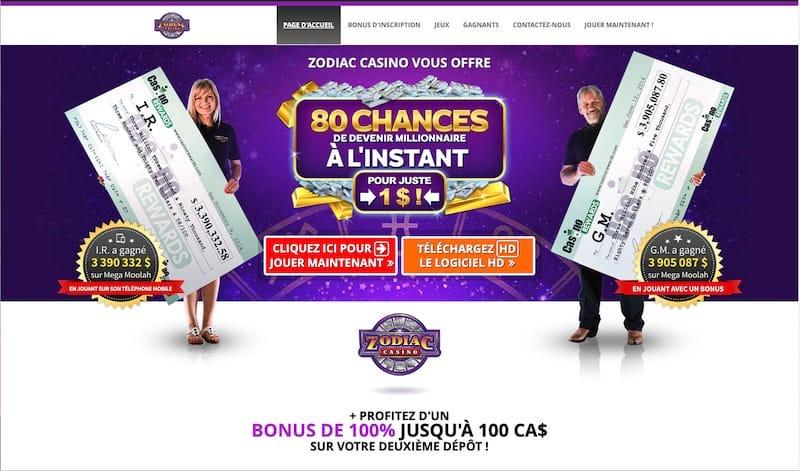 Revue Zodiac Casino Canada